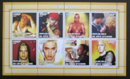 Poštovní známky Pobøeží Slonoviny 2002 Eminem, zpìvák