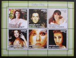 Poštovní známky Pobøeží Slonoviny 2002 Celine Dion, zpìvaèka