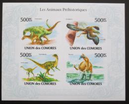 Poštovní známky Komory 2009 Dinosauøi neperf. Mi# 2646-49 B