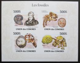 Poštovní známky Komory 2009 Fosílie, pravìk Mi# 2642-45 B