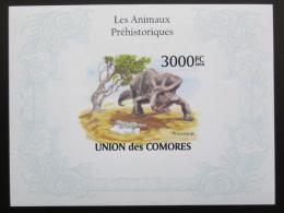 Poštovní známka Komory 2009 Dinosauøi neperf. Mi# Block 565 B