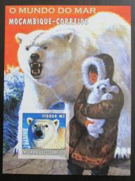 Poštovní známka Mosambik 2002 Lední medvìdi neperf. Mi# 2745 B