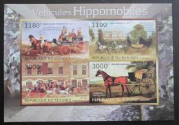 Poštovní známka Burundi 2012 Umìní, dostavníky Mi# 2878-81 B