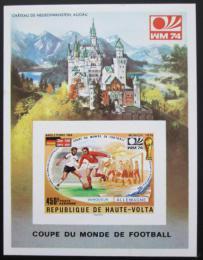 Poštovní známka Horní Volta 1974 MS ve fotbale, neperf Mi# Block 27 B