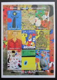 Poštovní známky Guinea 1998 Umìní, Joan Miró, neperf.