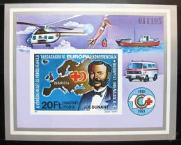 Poštovní známka Maïarsko 1981 Èervený køíž neperf. Mi# Block 149 B Kat 30€