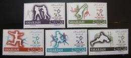 Poštovní známky Šardžá 1965 Panarabské hry Mi# 193-97
