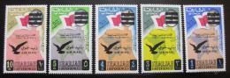 Poštovní známky Šardžá 1965 Letecké, Londýn Mi# 176-80