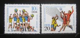 Poštovní známky DDR 1983 Volejbal Mi# 2814-15