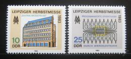 Poštovní známky DDR 1983 Veletrh v Lipsku Mi# 2822-23
