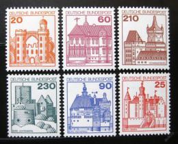 Poštovní známky Nìmecko 1978-79 Hrady a zámky Mi# 995-99,1028