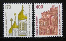 Poštovní známky Nìmecko 1991 Pamìtihodnosti Mi# 1535,1562 Kat 6.90€