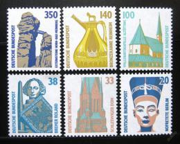 Poštovní známky Nìmecko 1989 Pamìtihodnosti roèník Mi# 1398-1401,1406-07 Kat 11€