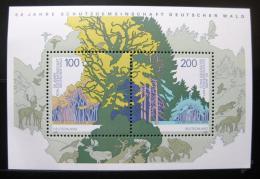 Poštovní známky Nìmecko 1997 Ochrana lesù Mi# Block 38