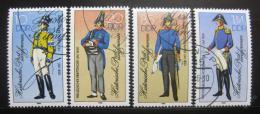 Poštovní známky DDR 1986 Poštovní uniformy Mi# 2997-3000