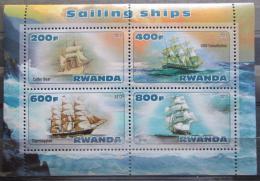 Poštovní známky Rwanda 2013 DOPRAVA, Plachetnice