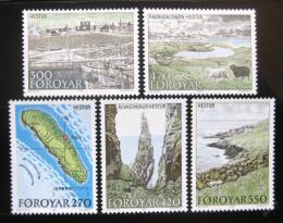 Poštovní známky Faerské ostrovy 1987 Ostrov Hestur Mi# 154-58