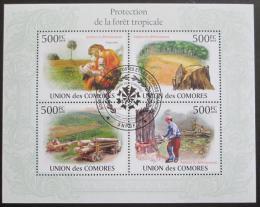 Poštovní známky Komory 2009 Ochrana tropù Mi# 2732-36