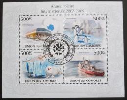 Poštovní známky Komory 2009 Polární rok Mi# 2727-30