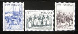 Poštovní známky Faerské ostrovy 1995 Døívìjší život Mi# 285-87