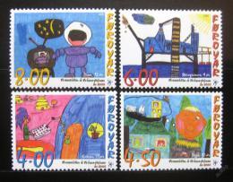 Poštovní známky Faerské ostrovy 2000 Dìtské kresby Mi# 375-78