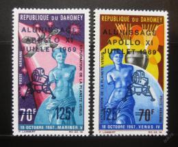 Poštovní známky Dahomey 1969 Pøistání na Mìsíci Mi# 387-88