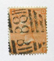Poštovní známka Velká Británie 1865 Královna Viktorie SC# 43, desky è. 14 Kat $90