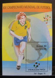 Poštovní známka Brazílie 1990 MS ve fotbale Mi# Block 84