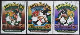 Poštovní známky KLDR 1981 MS ve fotbale Mi# 2094-96
