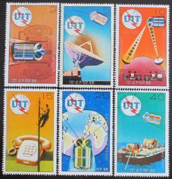 Poštovní známky KLDR 1976 ITU, 100. výroèí Mi# 1530-35