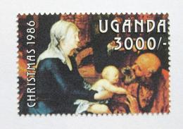 Poštovní známka Uganda 1986 Umìní, známka z aršíku Mi# 513
