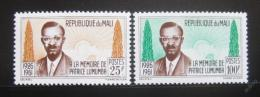 Poštovní známky Mali 1962 Patrice Lumumba Mi# 47-48