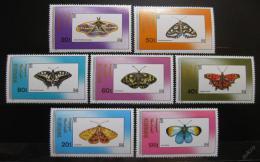 Poštovní známky Mongolsko 1990 Motýli Mi# 2190-96