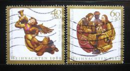 Poštovní známky Západní Berlín 1989 Vánoce Mi# 858-59