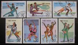Poštovní známky Vietnam 1989 Krasobruslení Mi# 2044-50