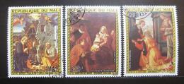 Poštovní známky Mali 1975 Umìní, vánoce Mi# 514-16