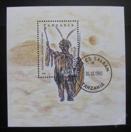 Poštovní známka Tanzánie 1993 Umìní Zulu Mi# Block 236