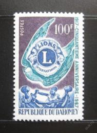 Poštovní známky Dahomey 1967 Lions International Mi# 306