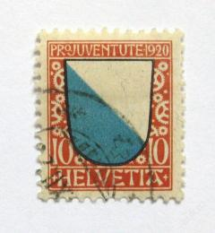 Poštovní známka Švýcarsko 1920 Erb Zurich Mi# 154 Kat 18€