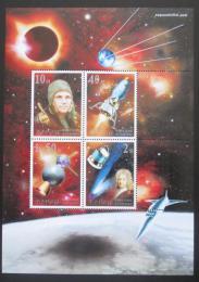Poštovní známky KLDR 2001 Prùzkum vesmíru Mi# Block 505