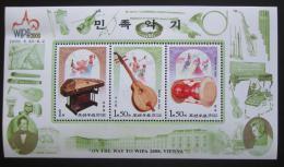 Poštovní známky KLDR 2000 Hudební nástroje Mi# Block 466