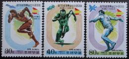 Poštovní známky KLDR 1999 MS v atletice Mi# 4207-09