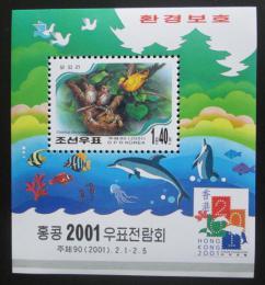 Poštovní známka KLDR 2001 Fauna Mi# Block 488