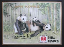 Poštovní známka KLDR 1991 Pandy Mi# Block 261