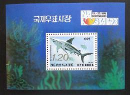 Poštovní známka KLDR 1993 Žralok Mi# Block 281