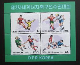 Poštovní známky KLDR 1999 Ženský fotbal Mi# Block 427