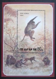 Poštovní známka KLDR 1992 Opice Mi# Block 267