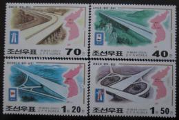 Poštovní známky KLDR 2001 Dálnice Mi# 4450-53