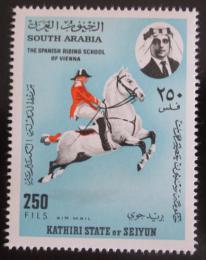 Poštovní známka Aden Kathiri 1967 Španìlská jezdecká škola Mi# 156