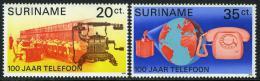 Poštovní známky Surinam 1976 Telefony Mi# 730-31